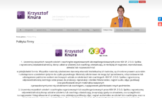 Krzysztof Knura - coaching biznesowy i sprzedażowy